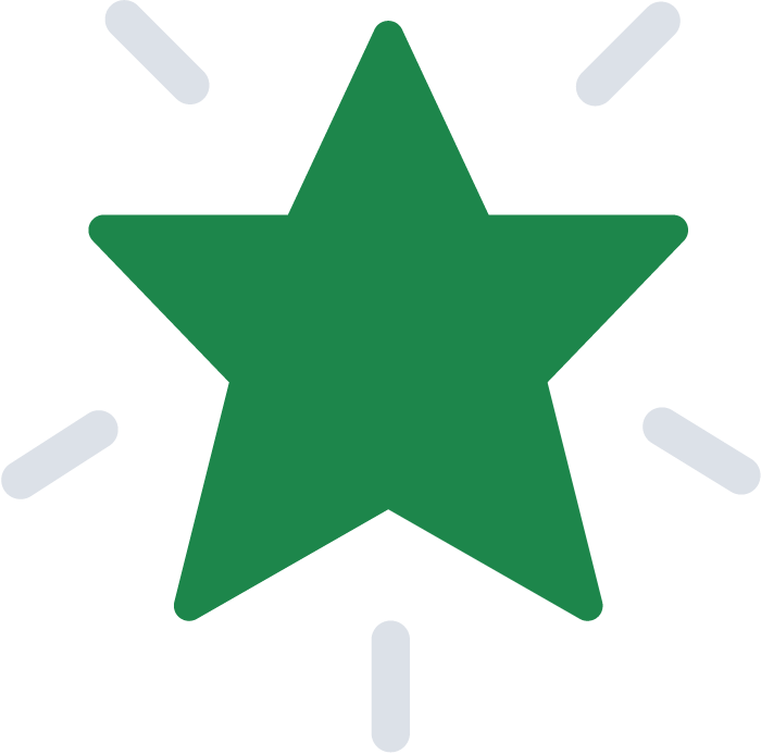Green background star for Otis, the smart and affordable video-based security