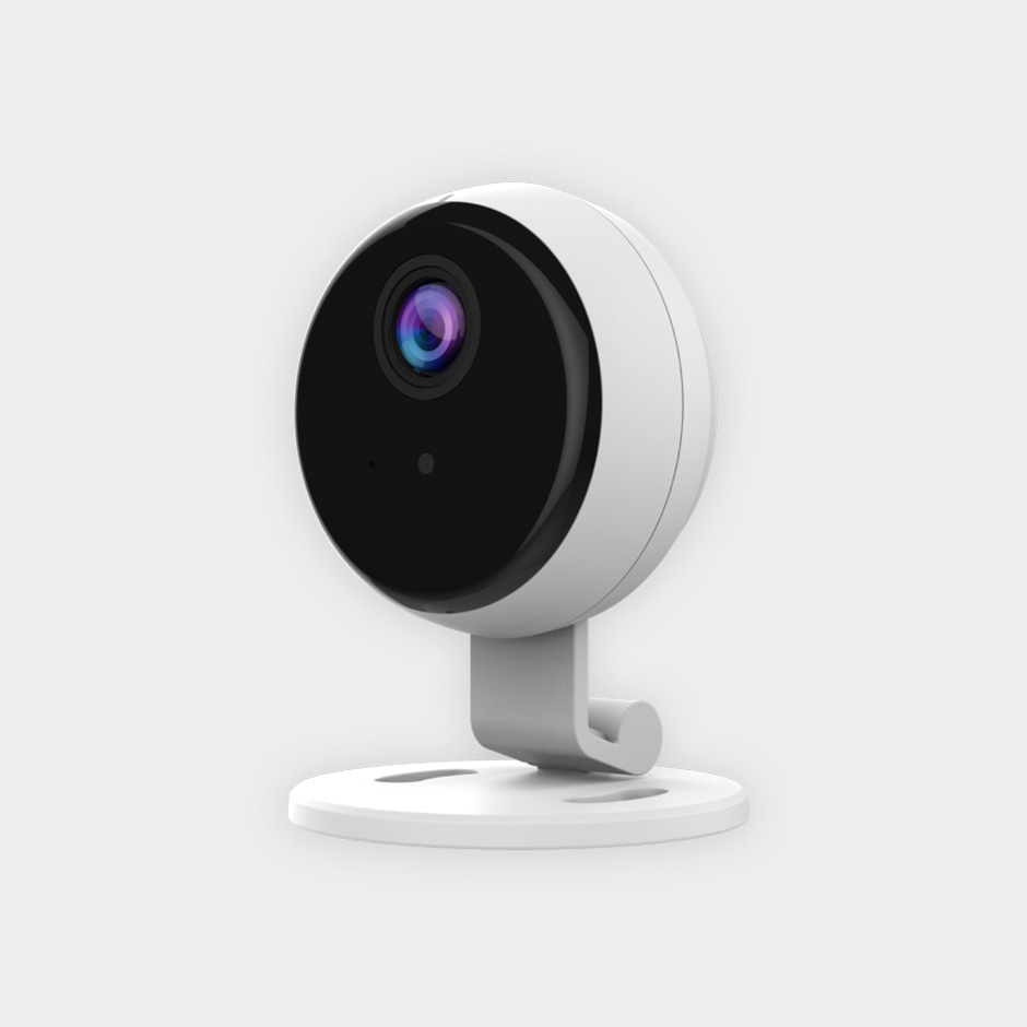 Side view of the Otis smart and affordable security camera